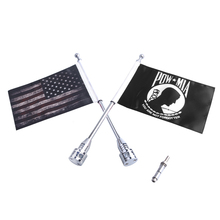 цена на Black American Flag & Mast Kit Eagle Rear Side Mount Flags Pole Luggage Rack For Harley Touring Sportster XL883 XL1200 Road King