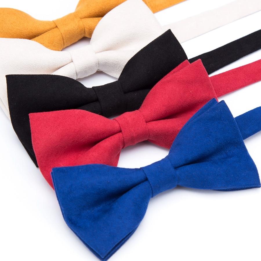 Fashion Men Bow Tie Candy Solid Wedding Necktie Mens Parties Dress Bowtie Boy Cravats Business Accessories Gravatas Para Homens