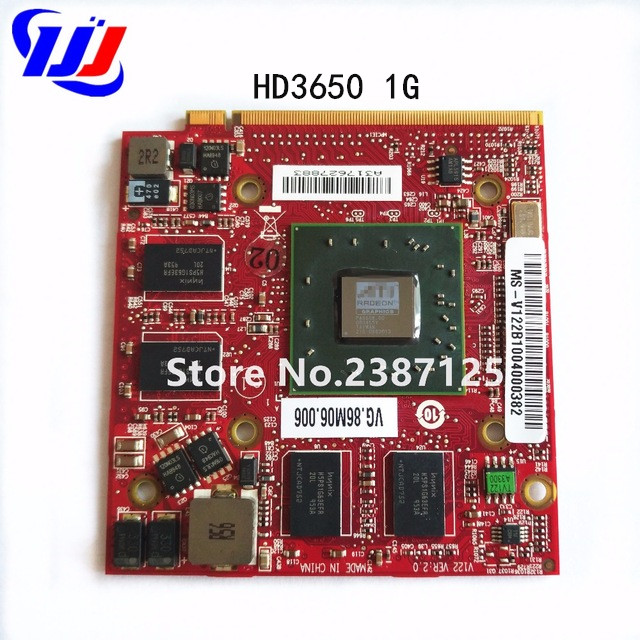 Original For ATI Radeon HD 3650 HD3650 1GB Graphic Video Card VGA Board for A c er A sp i r e 5520G 5720G 5920G 7520G 7720G Case original genuine hd 8490m hd8490m 1gb 1024mb graphic card for dell hd8490 display video card gpu replacement tested working
