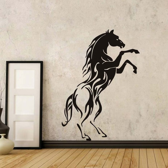 1pcs Creative Design PVC Material Jumping Horse Wall Art Stickers  Vinyl Decal Stylish Home Graphics