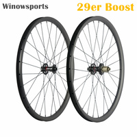 Winowsports high quality 29er boost carbon mtb wheel 148*12mm novatec hub D791 D462 110*15mm thru axle hookless mtb 29 wheel