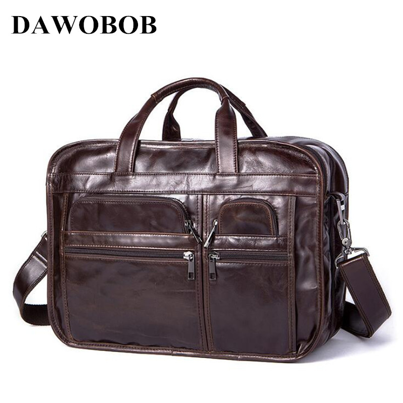 Men Casual Briefcase Business Shoulder Bag Leather Messenger Bags Computer Laptop Handbag Bag Men's Messenger Bags new high quality male leather men laptop briefcase bag 14 inch computer bags handbag business bag single shoulder business bags