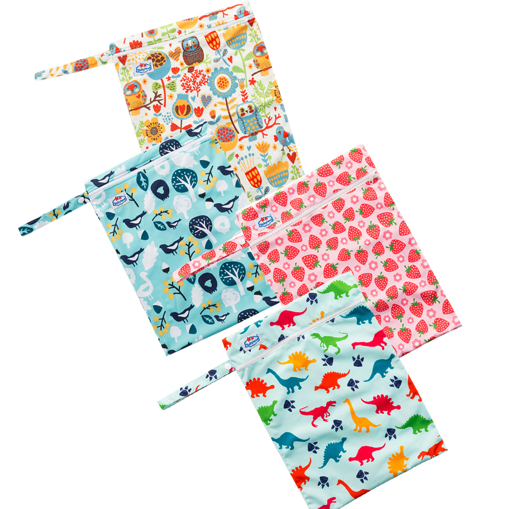 (50pcs )Manufacturer's Price Babyland Zipper Wetbags Waterproof Multi Function Bags Newest Designs Diaper Bags Easy Travel Bags-in Diaper Bags from Mother & Kids    2