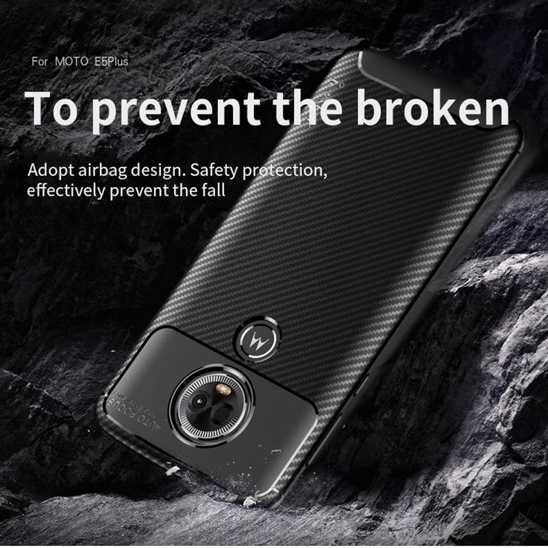 för Moto E5 Väska IPAKY för Moto E5 Plus Väska Silikon TPU - Reservdelar och tillbehör för mobiltelefoner - Foto 4