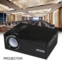 Home Projector Mini Miniature Portable 1080P HD Projection Mini LED Projector For Home Theater Entertainment Uk-Black