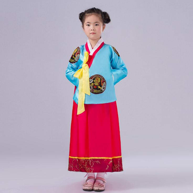 Traditional Korean National Baby Girl Clothes Kids Children Stage Performance Dress Child Girls Cosplay Costumes Clothing