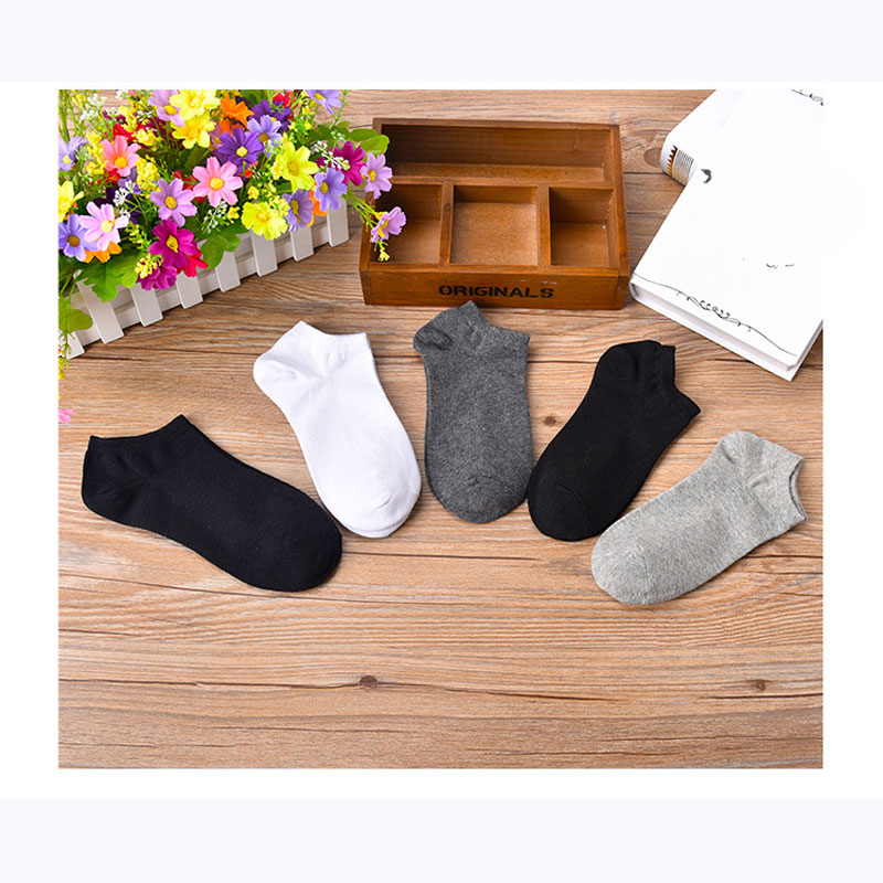 5 Pairs Mens Socks Casual Summer Style Breathable Socks For Men Cotton Blends Socks For Male Ankle Low Cut