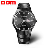 Men watch Luxury Top Brand DOM Real tungsten steel Sapphire Mirror 30 m waterproof Business Quartz watches Fashion Casual 698