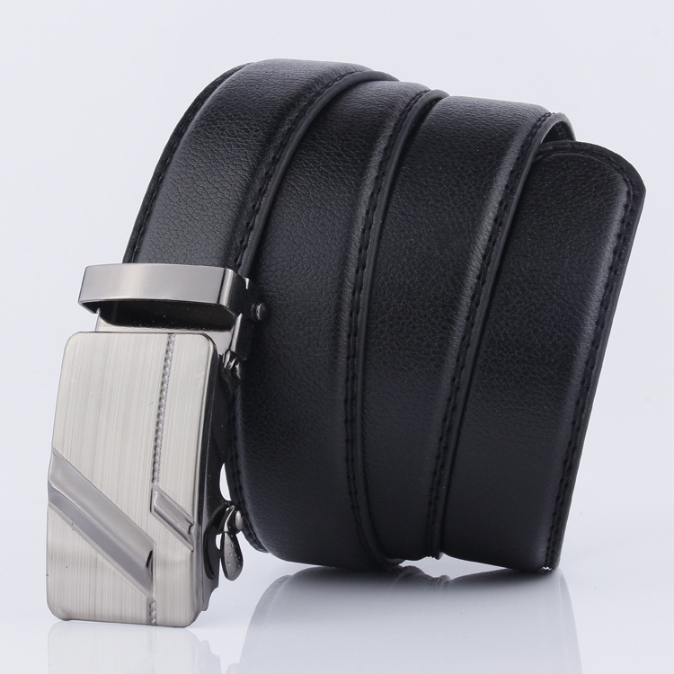 VOHIO hombres cinturón de hebilla automática cinturón de la marca del Diseñador  hombres raya el cinturon arneses de cuero de los hombres Para cualquier ... 8bf382bf8912