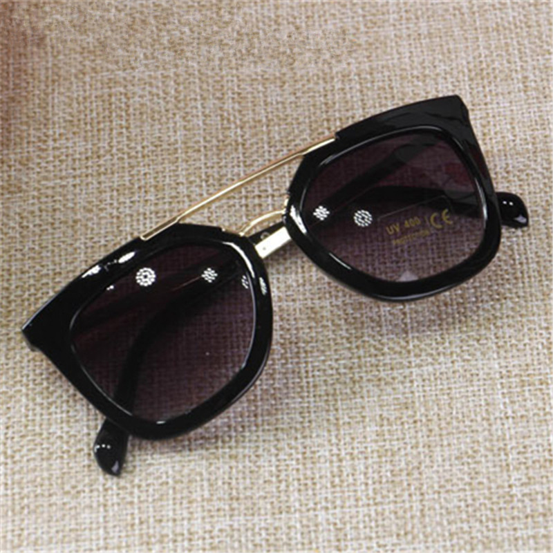 Double large font b Frame b font Children s Sunglasses Metal Sunglasses Boy and Girl baby