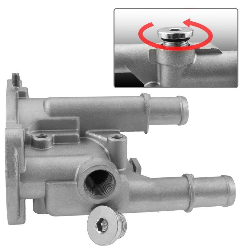 Aluminum Thermostat Housing Cover For Chevrolet Chevy Cruze Aveo Orlando For Opel Astra Zafira Signum Moka 96984103 96817255