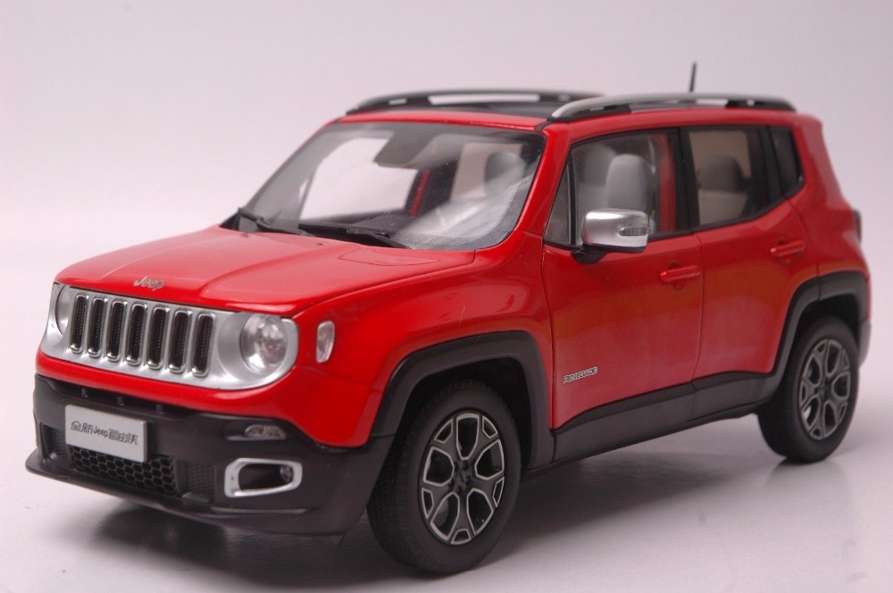 1:18 Diecast Model for Jeep Renegade 2016 Red SUV Alloy Toy Car Miniature Collection Gift 1 18 vw volkswagen teramont suv diecast metal suv car model toy gift hobby collection silver