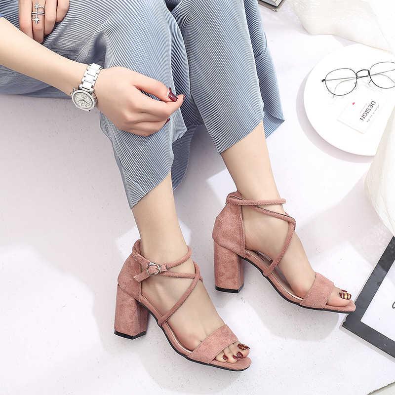 IMKKG 2017 Yeni Moda Kadınlar yaz ayakkabı kadın topuklu kadın sandalet S340