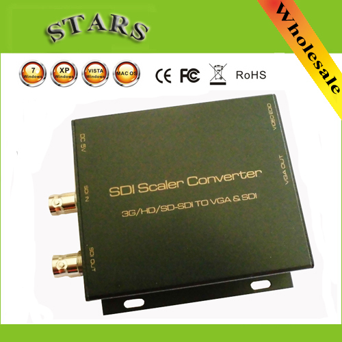 1080 P 3g SDI Scaler vers vga convertisseur VGA vers BNC SDI 3G-SDI HD-SDI pour CCTV PC vidéo, vente en gros livraison directe