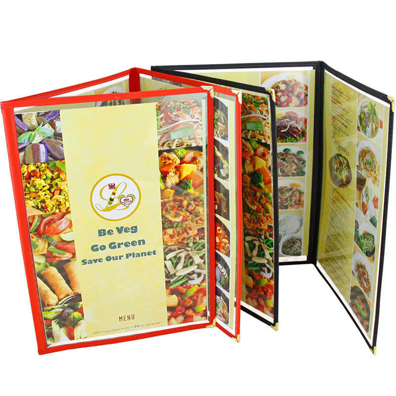 free shipping restaurant menu covers 32 2 21 7cm tri fold