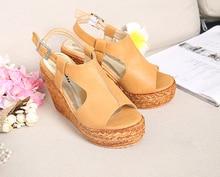 Women's Platform Wedges Shoes Summer Sandals Female Plus Size 40-45 Small 30-33 Open Toe Fashion Sandalia Feminina
