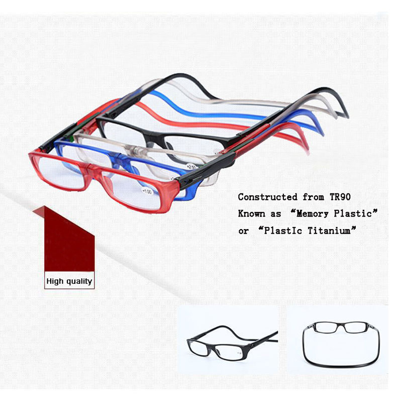 bee0e407960 Wholesale Fashion Fold lightweight plastic Power Reading Glasses  Magnification magnetic high quality vintage readers flexbile
