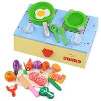 Детские Классические притворяться, играть деревянные Кухня пищевой Пособия по кулинарии игрушки играть миниатюрные Кухня комплект для рез
