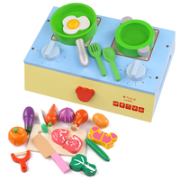 Детские Классические притворяться, играть деревянные кухня приготовления пищи игрушки играть миниатюрные кухонный гарнитур для резки ово