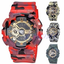 Military Sports Watches Men 50M Waterproof LED Digital Watch Shock Alarm Clock Wristwatches Relogio Masculino