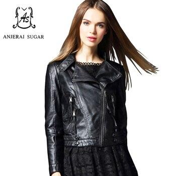 Chaqueta y abrigo de piel sintética para mujer, color negro, para invierno