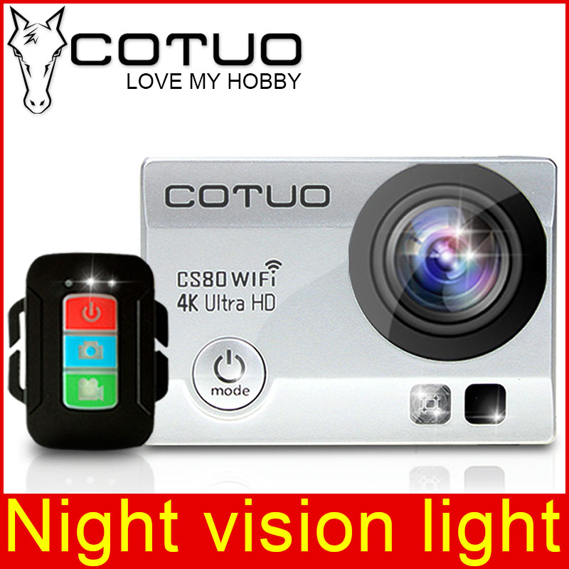 COTUO CS80 Action Camera 2 0 inch WiFi 4K 30FPS 16MP H 264 30m Waterproof 170