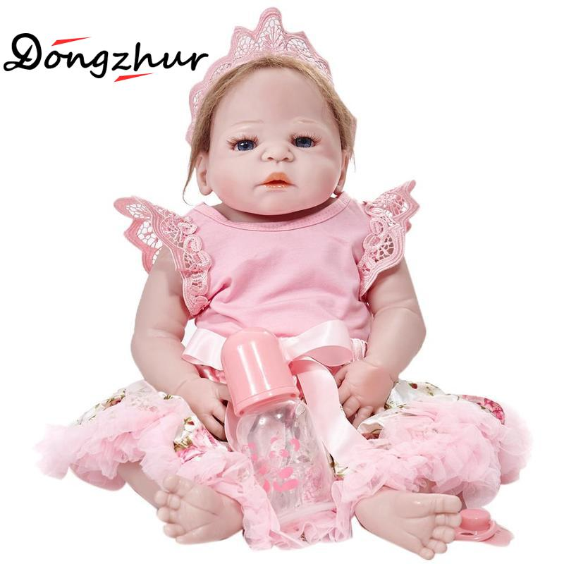 Dongzhur Reborn Dolls Babies 55cm Npkdoll Baby Doll Boneca Reborn Silicone Completa Doll Reborn Christmas Gift Toy For Children 22 silicone reborn dolls real reborn babies 100% handmade exquisite high quality brand doll reborn children gift doll