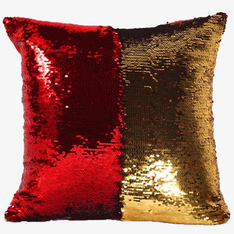 1PCS No Flling Mermaid pillow Reversible Sequin pillow sofa car Cushions Throw Pillows home decor in Cushion from Home Garden