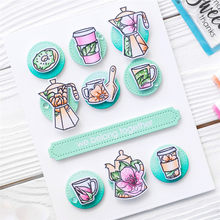 Teapot Stamps And Dies Sets Coffee Cup Cutting Die Stamp Scrapbooking Card Making Album Embossing Die Cut Craft Frame(China)