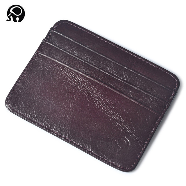 men Wallet Business Card Holder bank cardholder leather cow pickup package bus card holder Slim leather multi-card-bit pack bag 3
