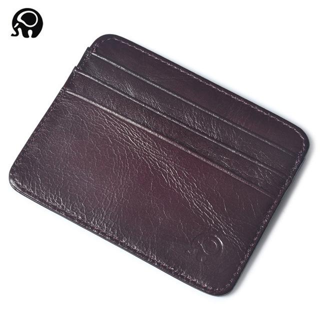 Leather Card Holder for Men