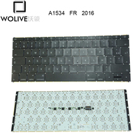 Wolive FR French Keyboard AZERTY keyboard for MacBook Retina 12 A1534 2016