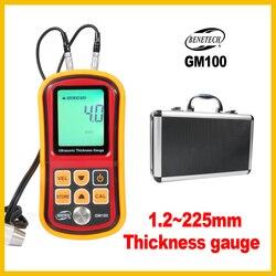 BENETECH profesjonalny ultradźwiękowy miernik grubości automatyczna kalibracja  aby zapewnić dokładność narzędzie pomiarowe GM100-BENETECH