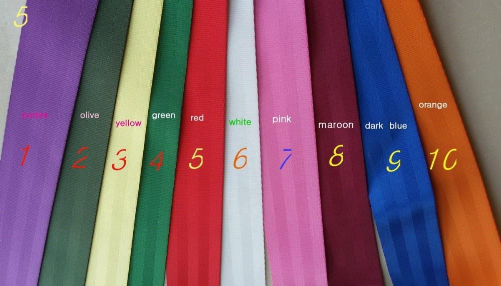 100 մետր Roll Seat Belt Webbing Safety Strap Colors 48 մմ - Ավտոմեքենայի ներքին պարագաներ - Լուսանկար 4
