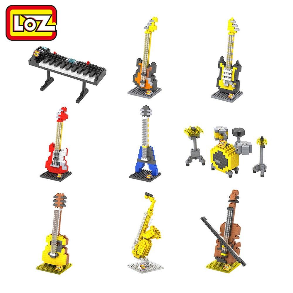 Instrumentos Musicales Serie Diamante LOZ Bloques de Construcción de Juguete DIY