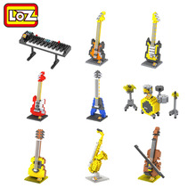 LOZ Musical Instruments Series Diamond Building Blocks DIY Toy Kids Children Educational Guitar Keyboard Violoncello Drum set