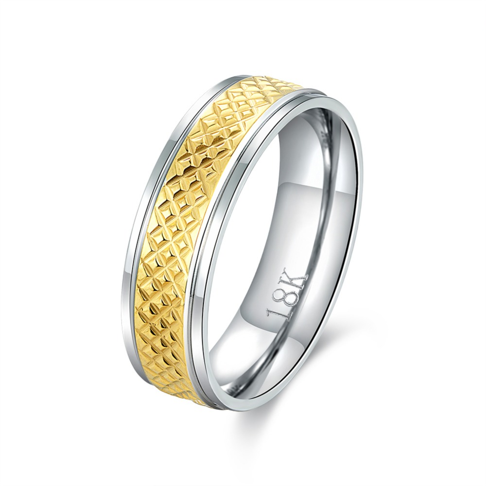 Wholesale Romantic Women&Men Lover Rings Forever Love Gold colour Rhinestone 316L Stainless steel High Grade Tiny Ring
