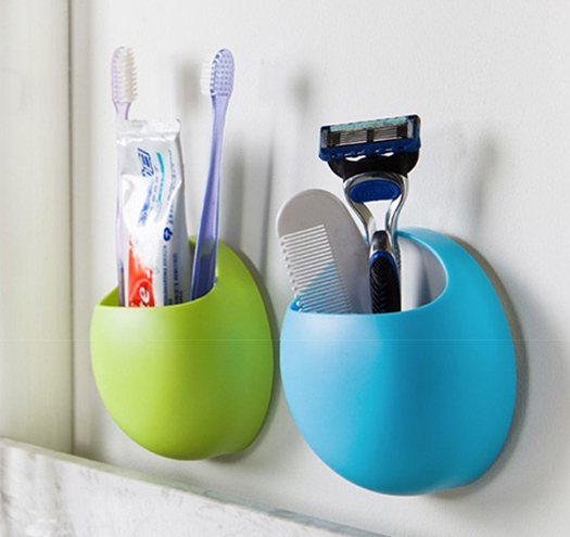 Fashion Plastic Toothbrush Holder Bathroom Objects Container With Suction Cups In Accessories Sets From Home Garden On Aliexpress