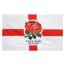 Free shipping England's Rugby World Cup logo 5ftx3ft 100% Polyester two buckle