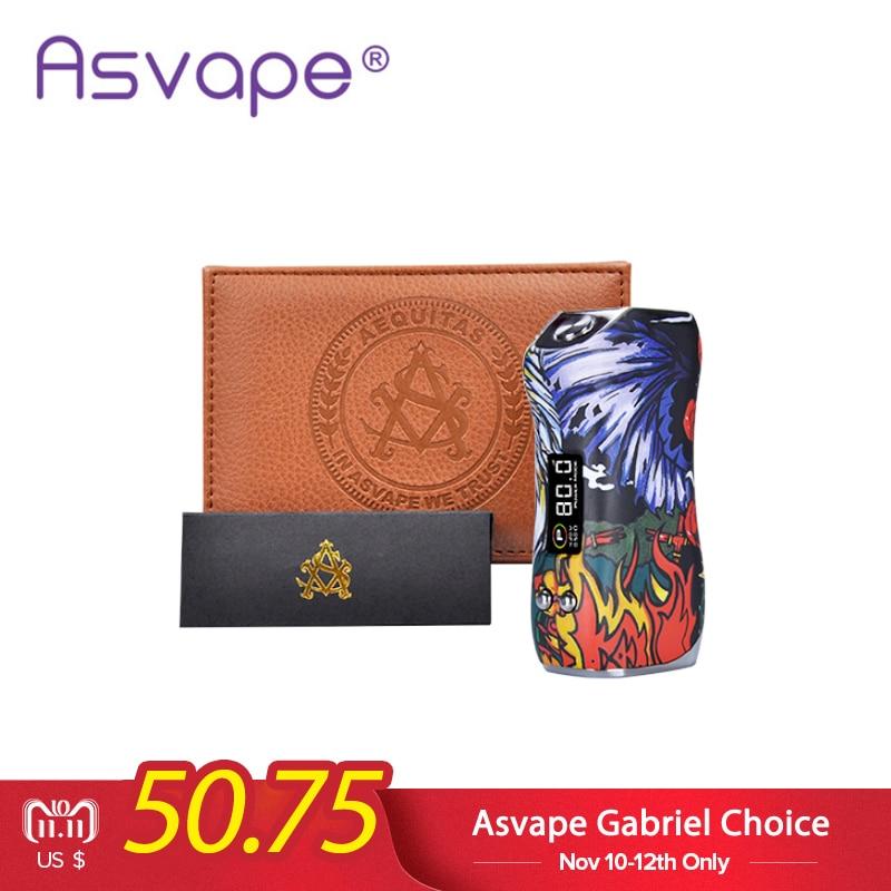 D'origine Asvape Gabriel Choix 80 w Boîte Mod Or/SS Cigarette Électronique Unique 18650 Batterie Vaporisateur Vaporisateur Mod VS vapeur Tempête