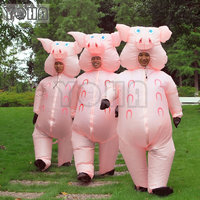 Inflatable Pig Costume Adult Fancy Dress Cosplay Halloween Costume TREX Costume