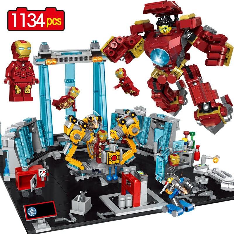 Galleria fotografica 1134 pz Marvel l Avengers Infinity War Super Hero Blocchi <font><b>LegoINGLYS</b></font> <font><b>Technic</b></font> Anti-hulk Armatura Modello di Mini Action Figures mattoni Giocattolo