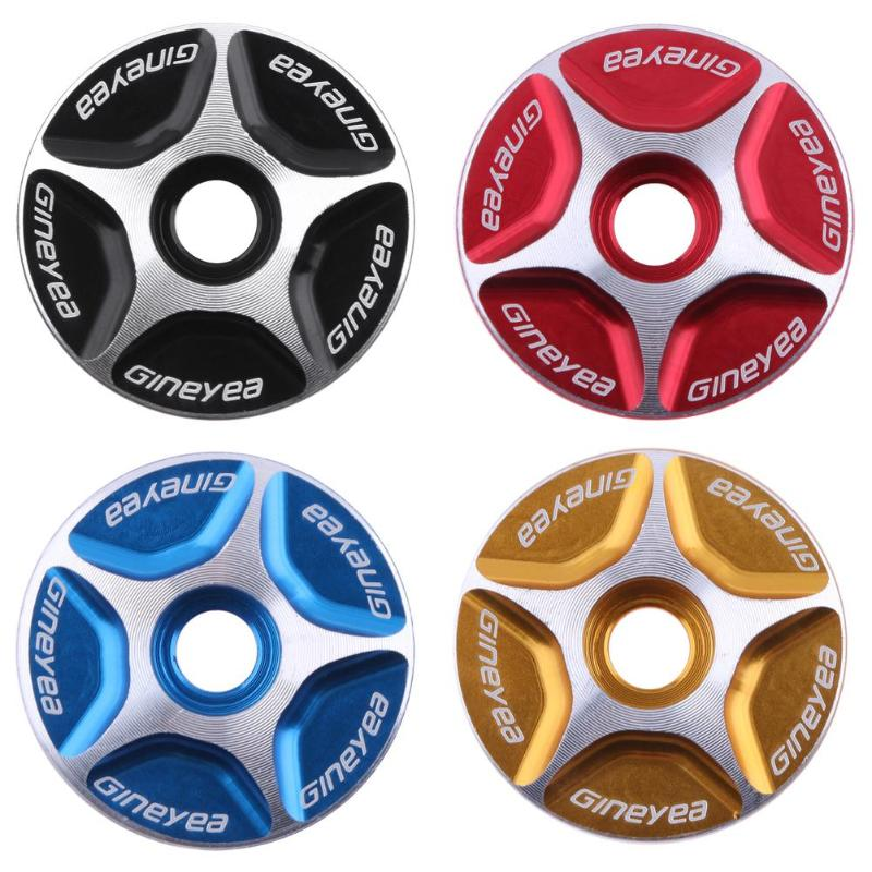 Aluminum Threadless Bicycle Headset Caps 28.6mm Mountain Bike Cycling MTB Headset Stem Top Cap Cover