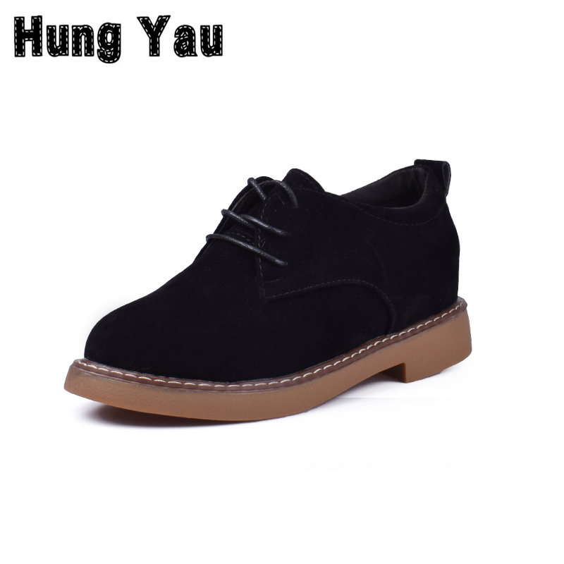 Women Shoes Leather Casual Shoes Platform Woman Walking Lace-UP Low Heeled Comfortable High Quality Zapatos Mujer Size 8 hot sale genuine leather shoes women soft comfortable lace up zapatos mujer high quality fashion oxfords pigskin women s shoes