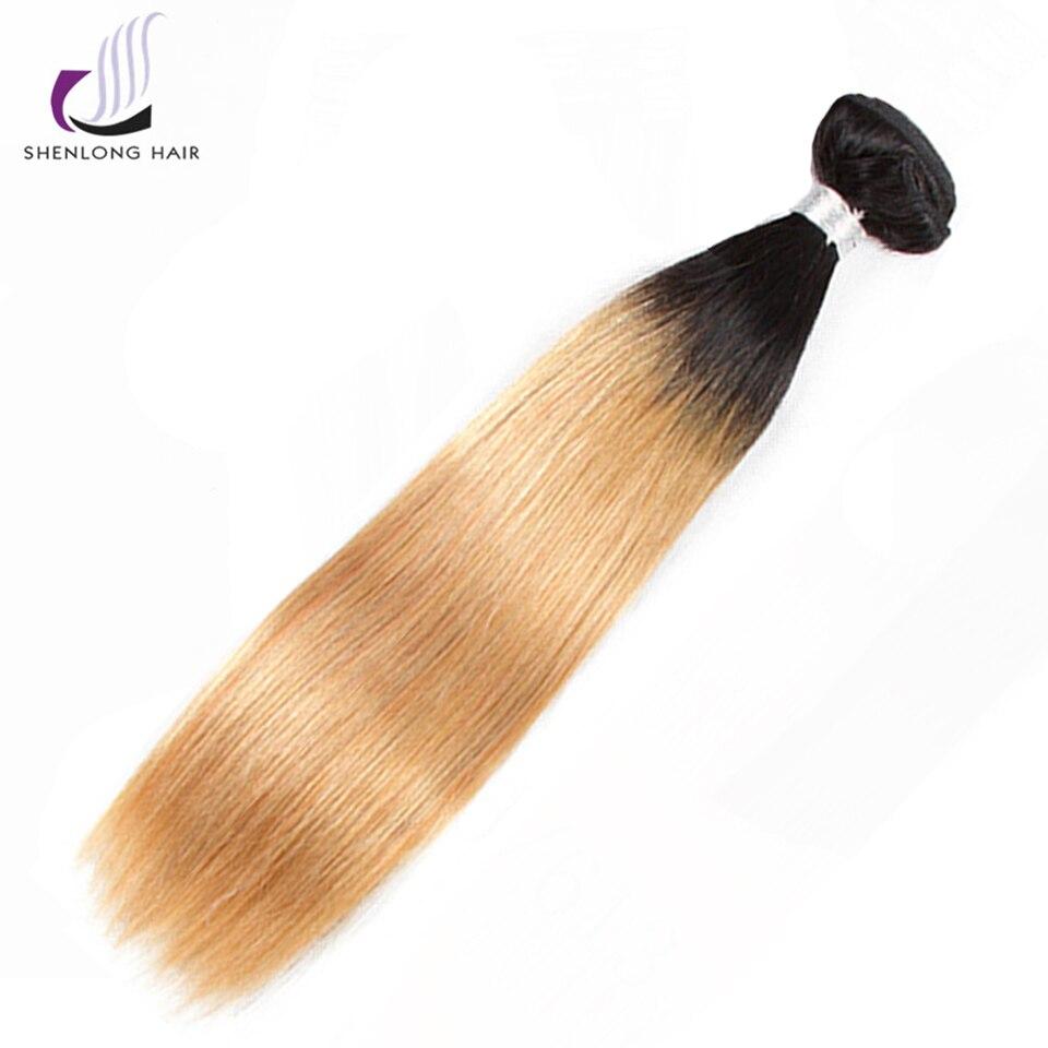 SHENLONG HAIR Straight Malaysian 1B-27 Human Hair Bundles 8-24 Inch 1 - Mänskligt hår (svart) - Foto 1