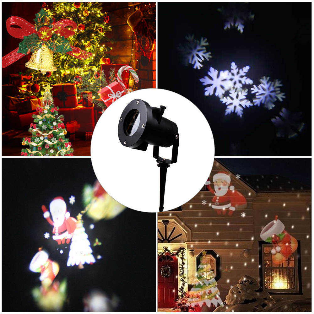 Christmas Laser Lights Outdoor Projector Santa Claus Snowflake Christmas Holiday Garden Decoration Festival Glow Party Supply (11)