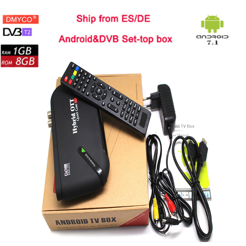 Decoder digitale Amlogic S905D Android 7.1 Smart TV BOX 1 gb/8 gb DVB-T2/T Ricevitore Satellitare Bluetooth 4.0 WIFI 4 k Set Top Box