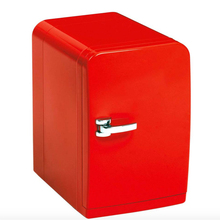 Olyair retro fridge mini car fridge portable fridge single door car cooler 5L 12V car  home Red