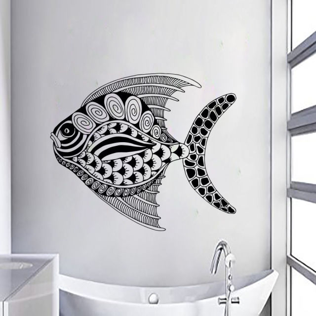 Fish wall decals vinyl stickers nursery bedroom decor interio design art window stickers bathroom glass wall