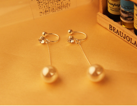 Lady style pearl earring ear clip fashion charm accessories female  LM-C315